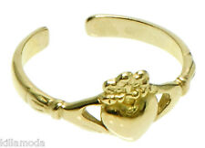 1.18 grams Solid 14K Yellow Gold Iris Celtic Claddagh Toe Ring New & Beautiful