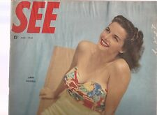 SEE MAGAZINE,MARCH 1948 ISSUE-JANE RUSSELL COVER