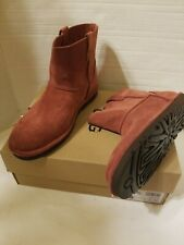 NIB UGG Size 9 CLASSIC UNLINED SUEDE MINI BOOTS  Red Clay Shade