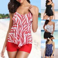 Damen Schwimmanzug Badeanzug Swimsuit Tankini Bikini Set Push Up Bademode Beach