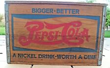 Pepsi Cola Collectible Checker Board Lid Nickel Worth a Dime Wood Crate Box