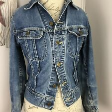 Vintage Lee Riders 101 J Denim Jean Jacket Size 34R Sanforized Union Made in USA
