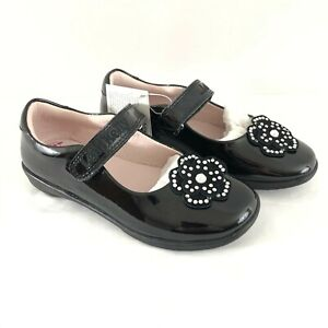 Lelli Kelly Toddler Girls Mary Jane Flats Leather Floral Applique Black 29 US 11