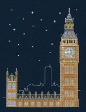 DMC Cross Stitch Kit - London By Night - Glow in the D'Architecture BK1723