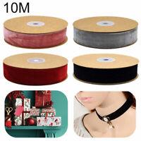 Velvet Ribbon 25mm - Neat Edge Trimming Wedding Christmas Crafts 4 Colours Decor