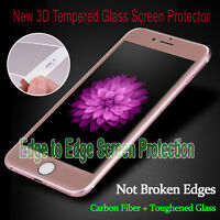 For iPhone 6s New Full Cover R.Gold Tempered Glass 3D Curved Screen Protector