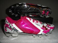 Under Armour Team Blur Low MC Titanium Breast Cancer Football Cleats 12.5