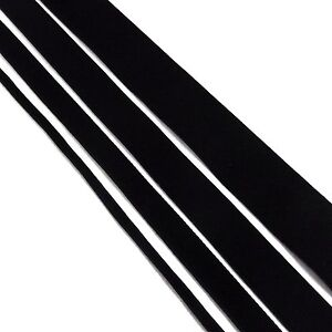 Black Velvet Ribbon - Great Quality Ribbon - 3mm 10mm 15mm 25mm Rolls & Metres
