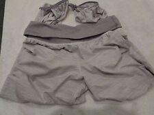 Lululemon Pant gray white Dance yoga Pants with Ankle Ties SZ 8-EUC!
