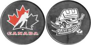 TEAM CANADA ICE HOCKEY SPONSOR PUCK GOOD YEAR DRIVE FOR GOLD!