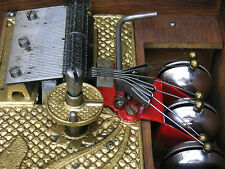 "Kalliope 50G Blechplatten 23,5cm Spieluhr 6 Bells Music Box with 20 Discs 9 1/4"""