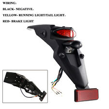 Motorcycle ABS Rear Fender LED Brake Stop Tail Light Universal Fit For Dirt Bike