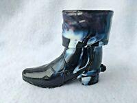 Atterbury Boot Toothpick Holder Antique Purple Slag Cowboy Boot Spurs