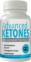 Advanced Ketones Natural BHB Ketogenic Weight Loss Pills 60 Capsules New True...
