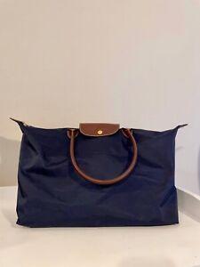Longchamp Le Pliage Tote bag nylon, navy blue, large