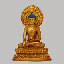 "Buddha Shakyamuni Gold Statue Skulptur Siddhartha (10 Kg) ""Gute Qualität"" Nepal"