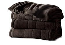 Sunbeam BSM9KQS-R470-16A00 Heated Blanket, Queen, Walnut