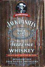 JACK DANIELS  Rustic Look Vintage Metal Tin Sign MAN CAVE Shed Garage & Bar Sign