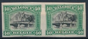 [7320] Belgium 1915 good stamp very fine MH in pair imperf and signed