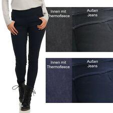 Jeanshose gefüttert Damen - Stretch Jeans - Winterhose - Thermo- Jeggings 36-46
