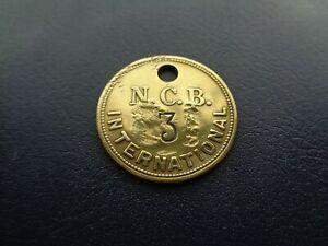 International Colliery Miners Mining Pit Check Token South Wales Area