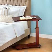 The Adjustable Height Side Table Food Tray Magazine/Book Holder Bed Stand