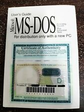 Microsoft MS-DOS 6.22 Full Version with 3.5 disks & COA