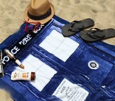 Large 100% Cotton Beach Bath Towel Doctor Who TARDIS