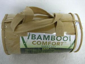 NEW Bamboo Comfort Queen Size 1800 Series 4 Piece Set Dark Tan MSRP $250.00