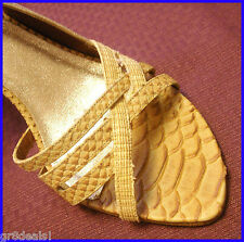 ISABELLA FIORE Beige / Tan $295 STRAPPY Slingback CROCODILE High Heel SHOES 8.5