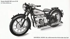Universal - Motorrad-Programm - Prospekt - 1950 - Deutsch - nl-Versandhandel