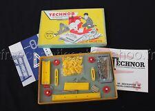E580 Rare 1958 ancien Jeu TECHNOR N°0 jeu construction 2000 HACHETTE Nf Meccano