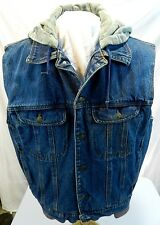 Eagles Ridge Outfitters M Medium Jean Hooded Vest Lined Heavy Duty Button Front