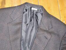 BRIONI Gray Brown Windowpane Nomentano ALL CASHMERE Sport Coat Jacket 40 CURRENT