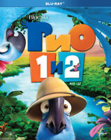 Rio 1+2 (Blu-ray, 2014, 2-Disc Set) Eng,Russian,Italian,Spanish (Multilingual)