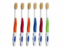 6 x MOUTH WATCHERS Toothbrush Adult 4 Different Color Mix Red Orange Green Blue