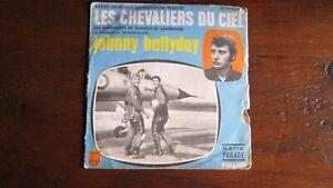 45T. Johnny HALLYDAY. BO : LES CHEVALIERS DU CIEL, Feuilleton Télévisé années 60