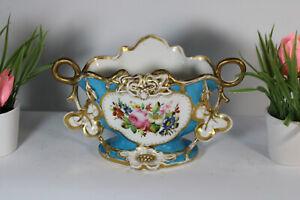Antique French vieux paris porcelain Centerpiece vase