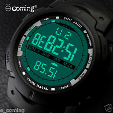 Men LED Digital Military Army Watch Boy Date Alarm Sport  Watches Rubber Brand