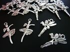 20 pce Mix Metal Antique Silver Ballerina & Fairy Charm / Pendants