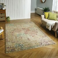 Florenza 2069 Y Multicoloured Faded Traditional Rug various sizes & Hall Runner