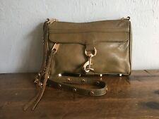 REBECCA MINKOFF $195 Leather Mini Mac Chain Strap Crossbody Purse in Olive