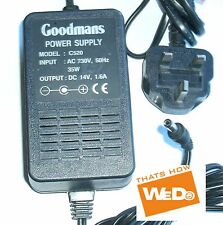 Goodmans Fuente de energía C520 DC 14v 1.6a Enchufe RU