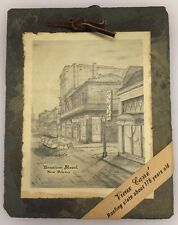 Antique New Orleans Bourbon Street Vieux Carre Roofing Slate Tile Early 1800s