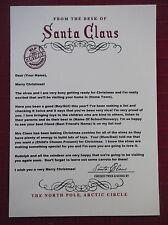 PERSONALISED LETTER & ENVELOPE FROM SANTA SIZE A5 FOR CHRISTMAS EVE BOX