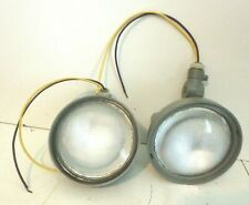 """4"""" Round Emergency Exit Light Replacement Lights Gray Pair"""