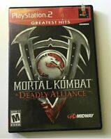 Mortal Kombat: Deadly Alliance Sony PlayStation 2 PS2 Tested Complete