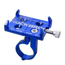 RockBros Cycling Road Bike Bicycle Handlebar Aluminum Alloy Phone Holder Blue