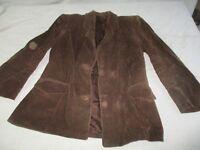 veste en velours a cote de travail ancienne.