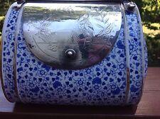 RARE Antique Hallmarked English Tea Caddy/Purse Etched Birds Silver SP 1842-1883